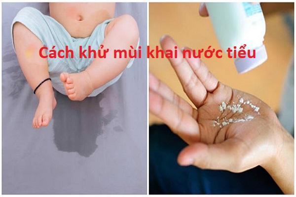 Cách khử mùi khai nước tiểu